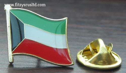 Kuwait Country Flag Lapel Hat Cap Tie Pin Badge Dawlat al-Kuwait Gift Souvenir